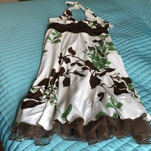 Speechless Brown and Green Dress.